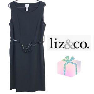 Liz & Co NWT Black stretch sheath dress